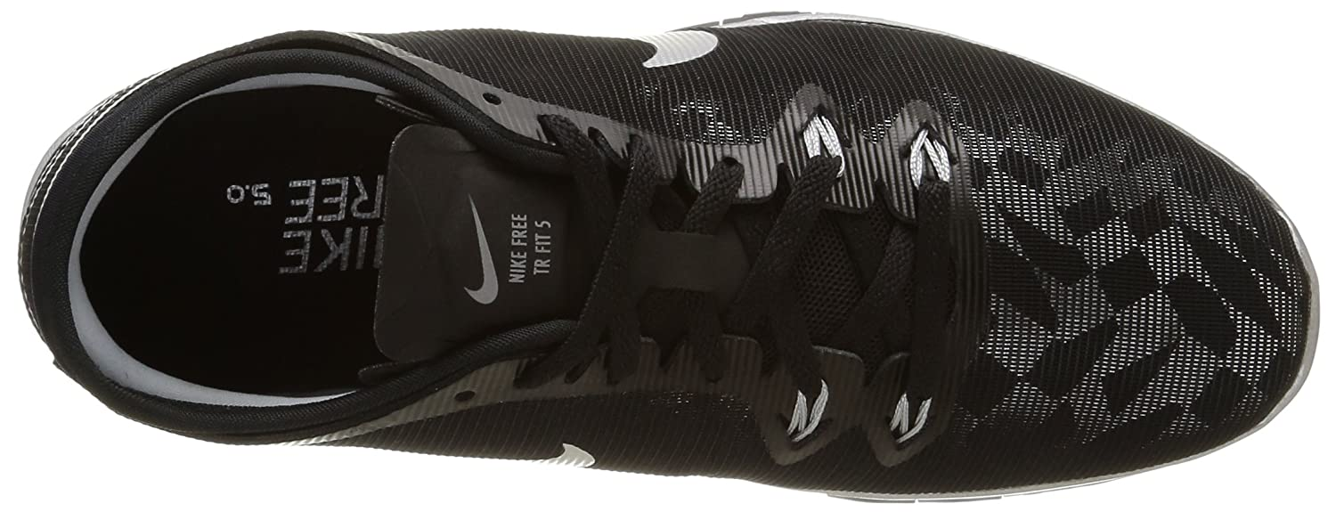 NIKE Women's Free 5.0 TR Fit 5 Training Shoe Silver B00VJ2AVYS 5 B(M) US|Black/Metallic Silver Shoe fe12dc