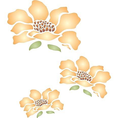 Flores mural plantilla – reutilizable de pared plantillas para pintar – mejor calidad Mural Wall Art