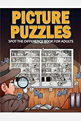 Picture Puzzles: Spot the Difference Book for Adults Paperback