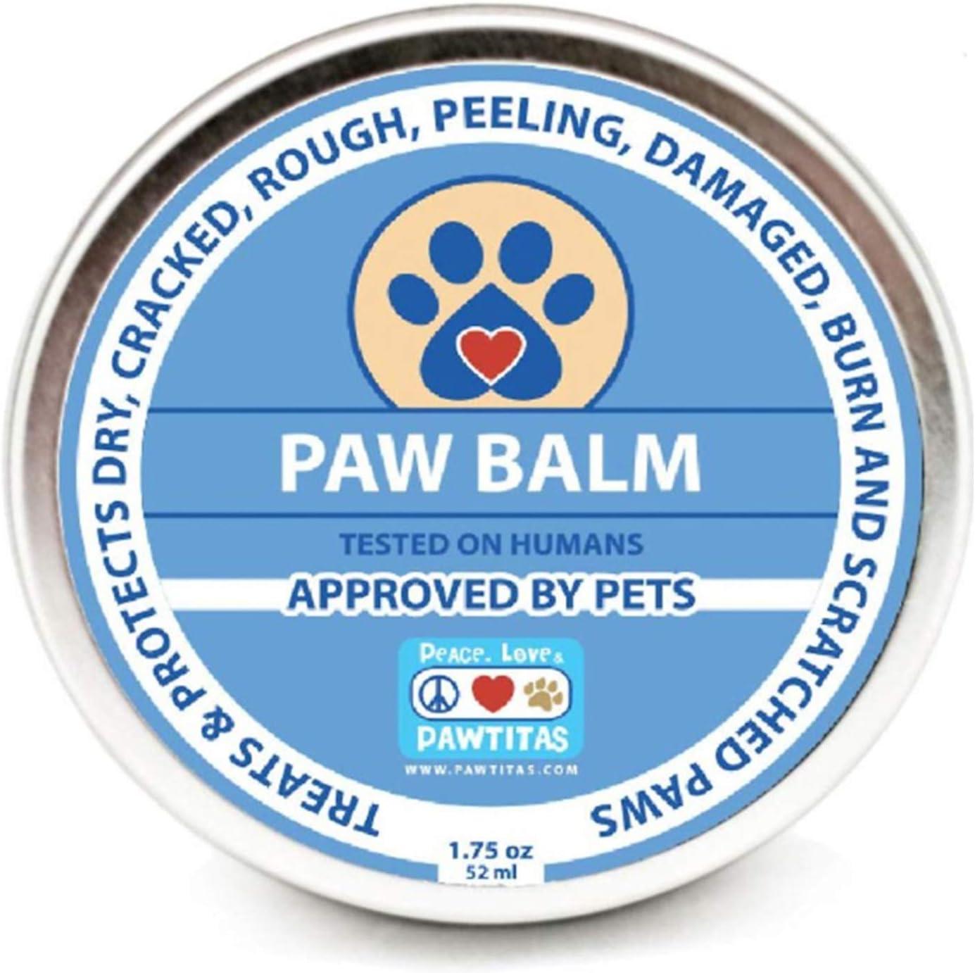 Pawtitas Balsamo para Perro con Cera Protectora para Almohadillas de Las Patas de tu Perro | Crema humectante para Las Almohadillas de tu Mascota Que Protege Las Patas agrietadas y secas - 52 ml