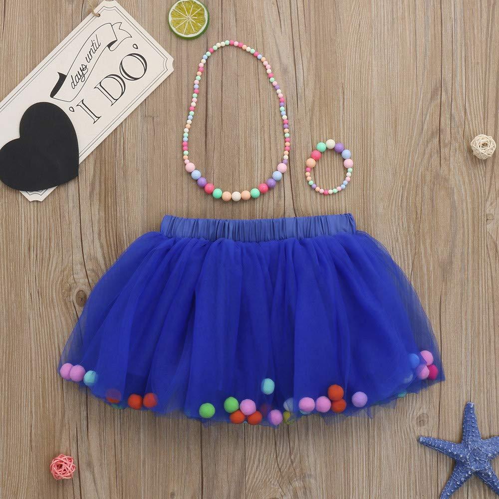 Lazzboy Ragazze//Bambina tut/ù Tutu Tulle Colorato Pompon Balletto Gonna Principessa Dress-up Danza Indossare for 0-10 Anni Costume Festa
