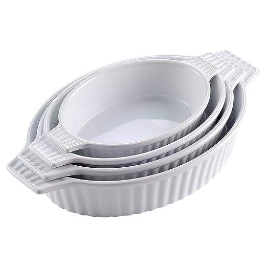 MALACASA, Serie Bake.Bake, Juego de 4 Porcelana Molde Molde Pan ...