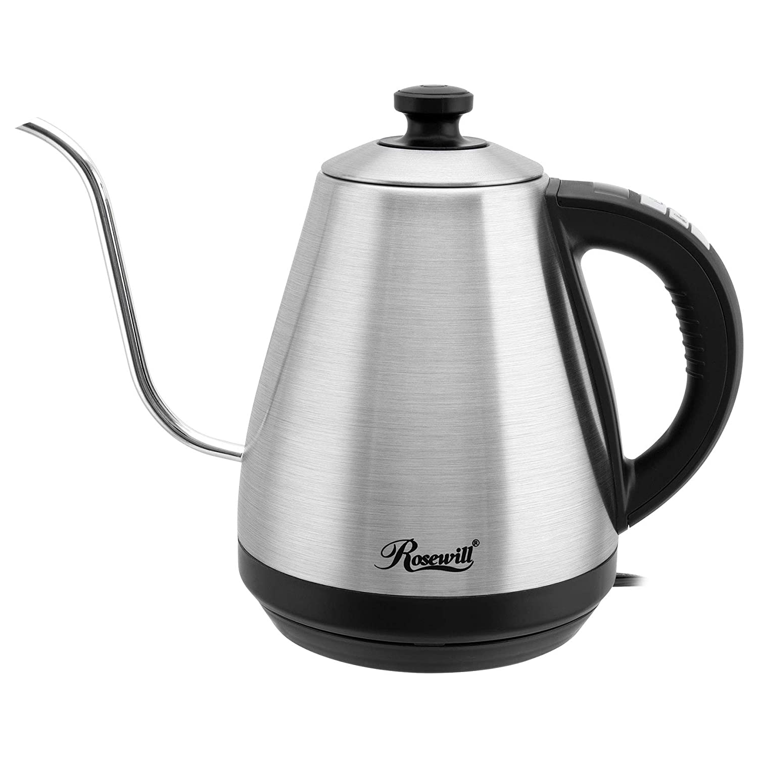 Rosewill Pour Over Coffee Kettle, Electric Gooseneck Kettle, Coffee Temperature Control with Variable Temperature Settings, Stainless Steel,RHKT-17002