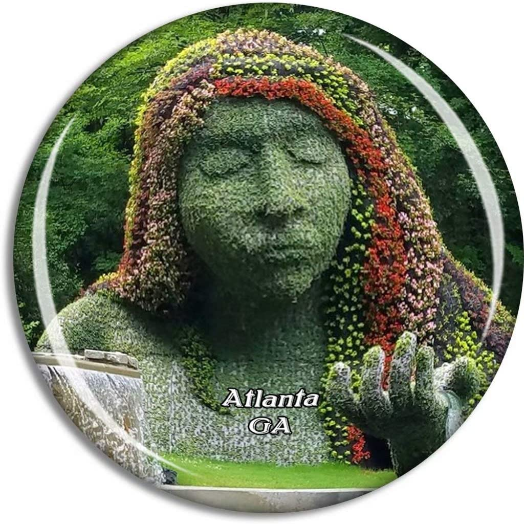 Atlanta Botanical Garden Georgia USA Magnet Travel Souvenir 3D Crystal Glass Collection Gift Refrigerator Sticker