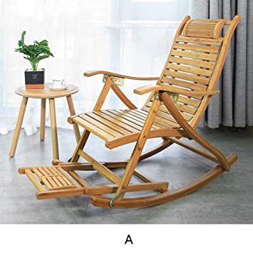 Admirable Amazon Com Xiaomei Folding Rocking Chair Natural Bamboo Machost Co Dining Chair Design Ideas Machostcouk