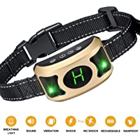 Havenfly 2019 DE ILUMINACIÓN DE Luces Collar de Corteza con Upgraded Smart Chip - Mejor Perro Inteligente SK, Beep Anti-Barking Collar