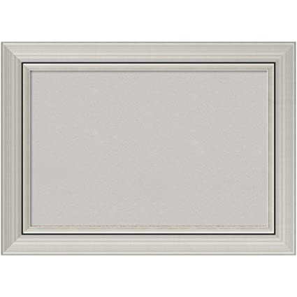 Amazon.com: Amanti Art Framed Grey Cork Board Romano Silver: Outer ...