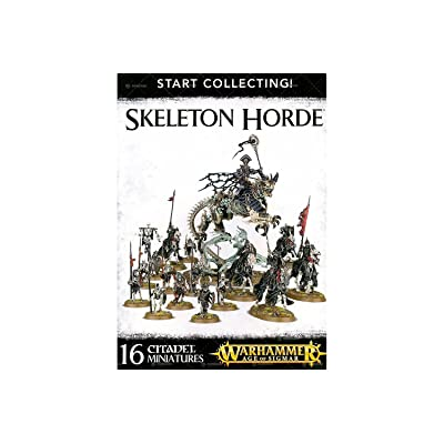 "Games Workshop 99120207037"" Warhammer Age of Sigmar Start Collecting Skeleton Hordes Action Figure: Toys & Games"