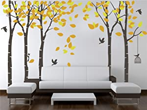AmazingWall 180X264cm/70.9x103.9 Cartoon Large Tree Wall Sticker Living Room Bedroom Kids' Room Nursery Decor Home Decorations Removeable 1PCS/Set