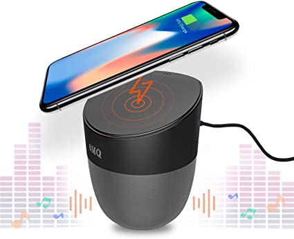 Amazon Com Bluetooth Speaker Wireless Charger Hands Free Power Bank Enables Qi Charging 2 X 5w Speakers Works With Iphone 8 8 X Samsung Galaxy S7 S8 Android All Other Qi Enabled Devices