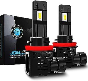 JDM ASTAR High Performance 1:1 Design H11 H8 H16 White Light Output Up to 100% More Downroad Visibility LED Headlight Bulbs/Fog Light Bulbs
