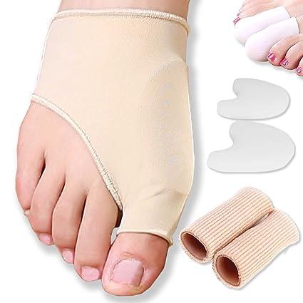 DR JK- Almohadilla en gel para juanetes y juego de protectores para juanetes de 8