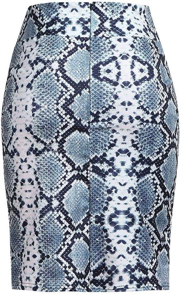 CANDLLY Faldas de Fiesta Mujeres Elegante como Piel de Serpiente Faldas de Flores Faldas Plisada para Mujeres Vestidos Guapos Regalo de San Valent/ín para Novias