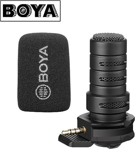 BOYA BY-A7H - Micrófono direccional TRRS para smartphone, iPhone ...