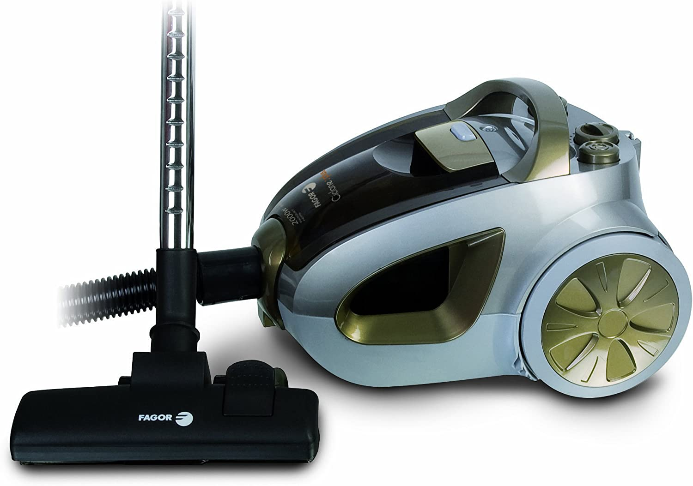 Fagor VCE-201 CP - Aspirador cliclón sin bolsa 2000 W, succión 440 W, cepillo parquet: Amazon.es: Hogar