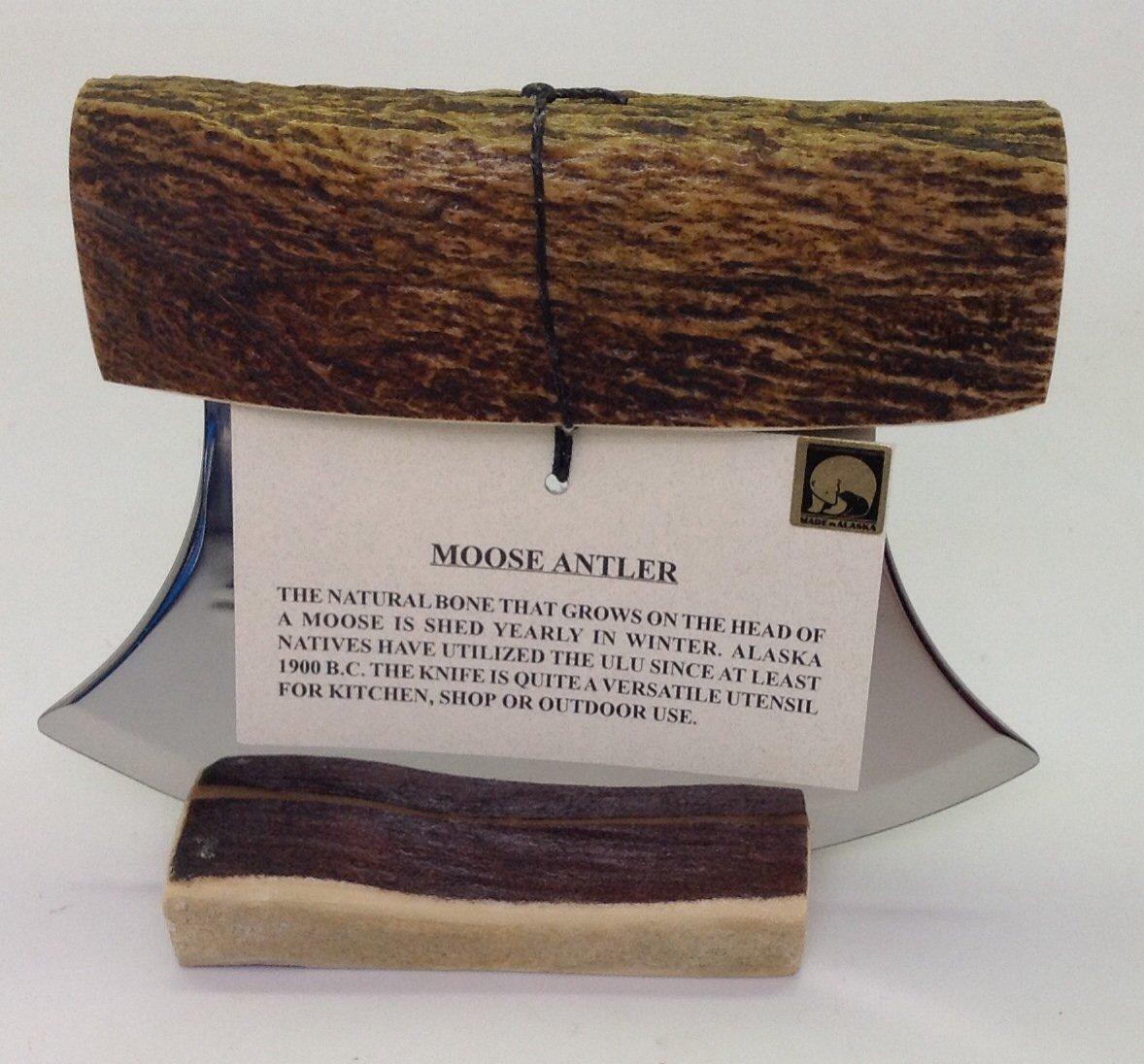 Made in Alaska Natural Moose Antler Ulu Knife