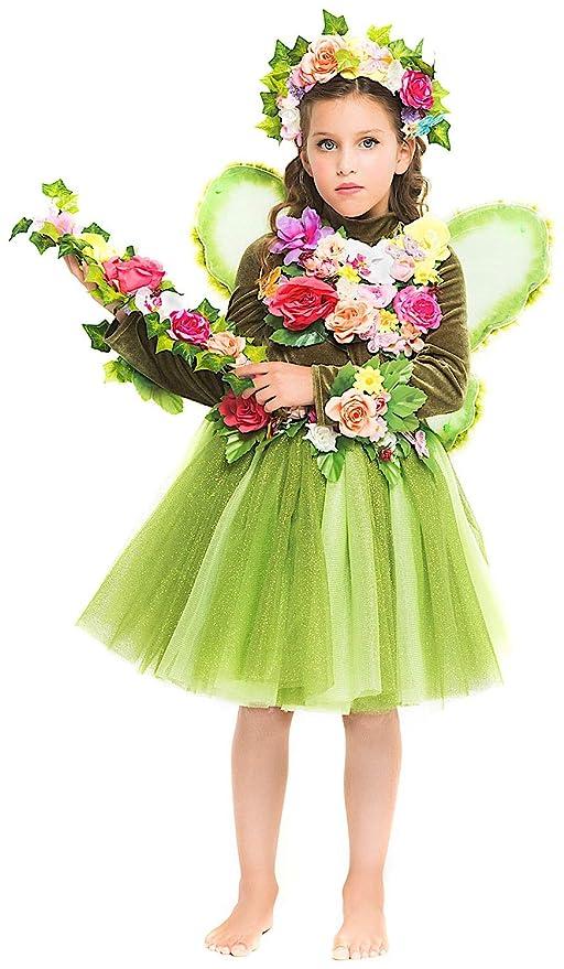 Costume di Carnevale da Fatina del Regno INCANTATO Baby Vestito per Bambina  Ragazza 1-6 8cd0edad7b1