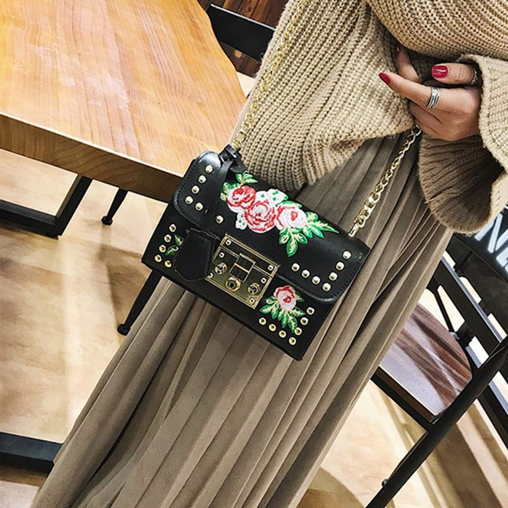DAJOLG Mode Handtaschen Damen,Handtasche Damen UmhäNgetasche UmhäNgetasche UmhäNgetasche Damen Taschen Damen Tasche Mädchen Schultertaschen,schwarz,  B07PM6476G Schultertaschen Einfach 1e853b
