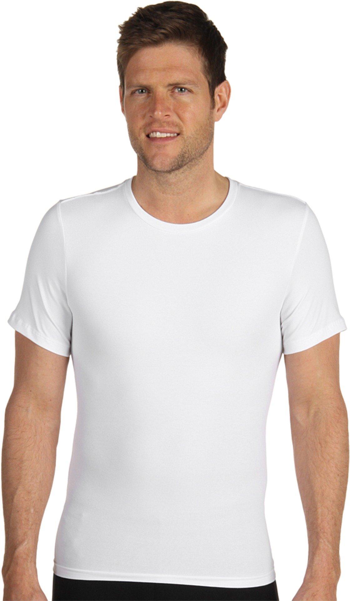 SPANX for Men Men's Cotton Compression Crew, White, LG (42-44) by SPANX