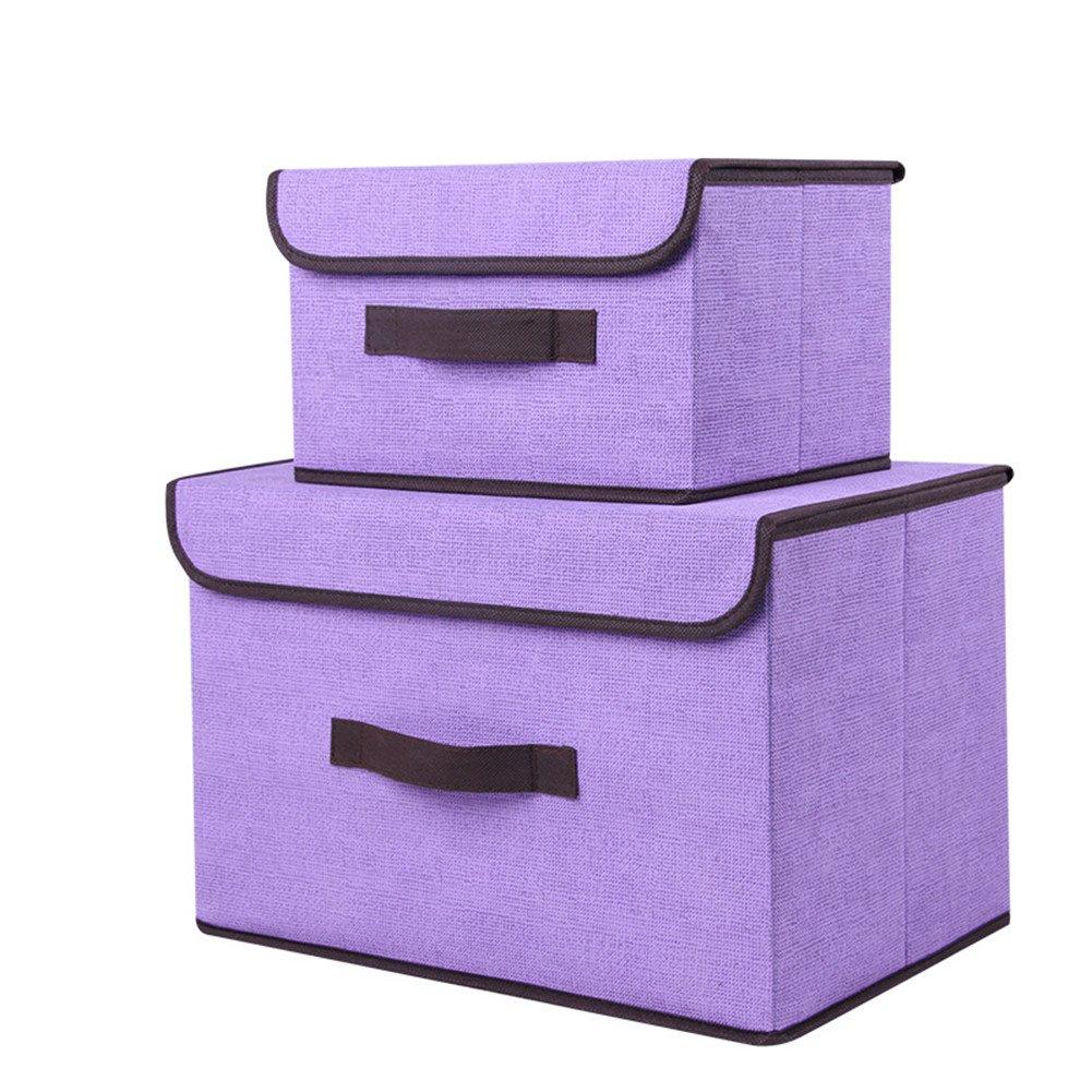 Qubabobo Boîte de Rangement Tissu (Lot de 2) Sac à Linge Stockage Boite Rangement Tiroir Idéale pour Vêtements Stockage, Linge, Chousette chousette etc.