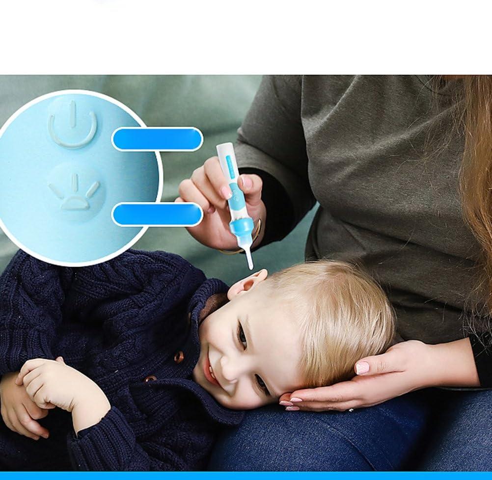 bleu ULTNICE Smart Ear Cleaner Earpick LED poche oreille nettoyant pour les adultes et les enfants