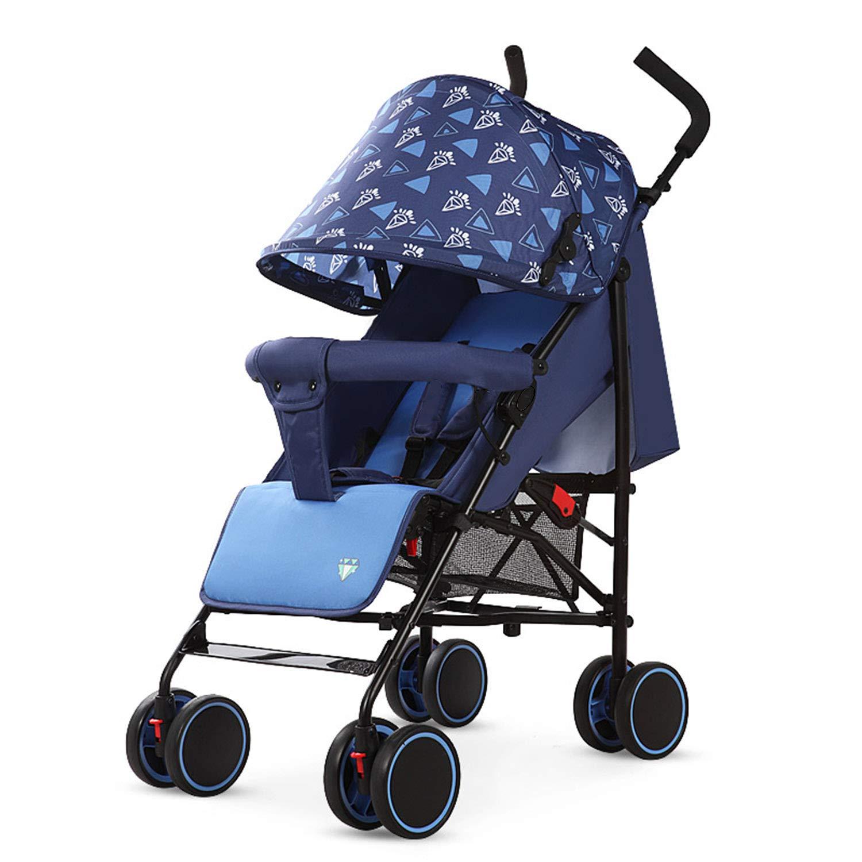 乳母車 軽量折りたたみ 座って横になることができます 子供用トロリー バックボード内蔵 360°ユニバーサルホイール 夏   B07Q9LNJQS
