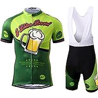 Thriller Rider Sports® Hombre I Like Beer Deportes y Aire Libre Maillot Manga Corta de Ciclismo