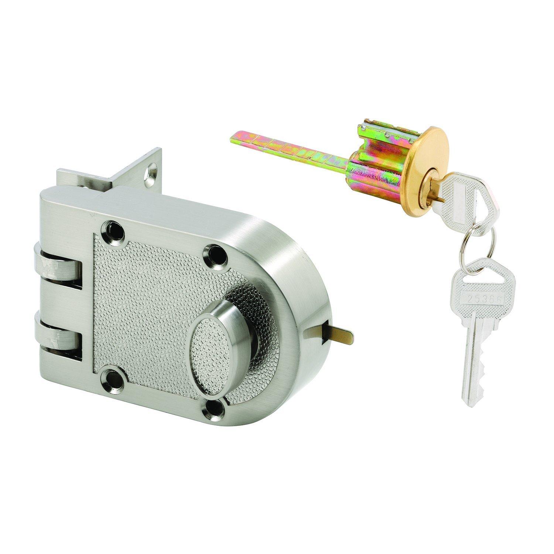 Defender Security U 10817 Deadlock, Jimmy-Resistant, Single Cylinder Door Lock with a Satin Nickel Finish