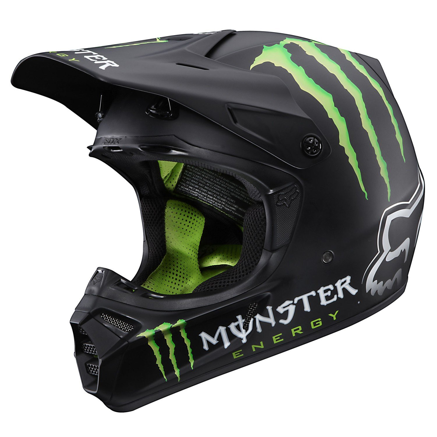 Fox Monster MX Helmet V3 RC Replica - Black Matte - Medium: Amazon.es: Coche y moto