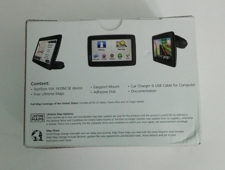 Amazon Com Tomtom Via 1410m 4 3 Inch Portable Gps Navigator With Lifetime Maps Gps Navigation