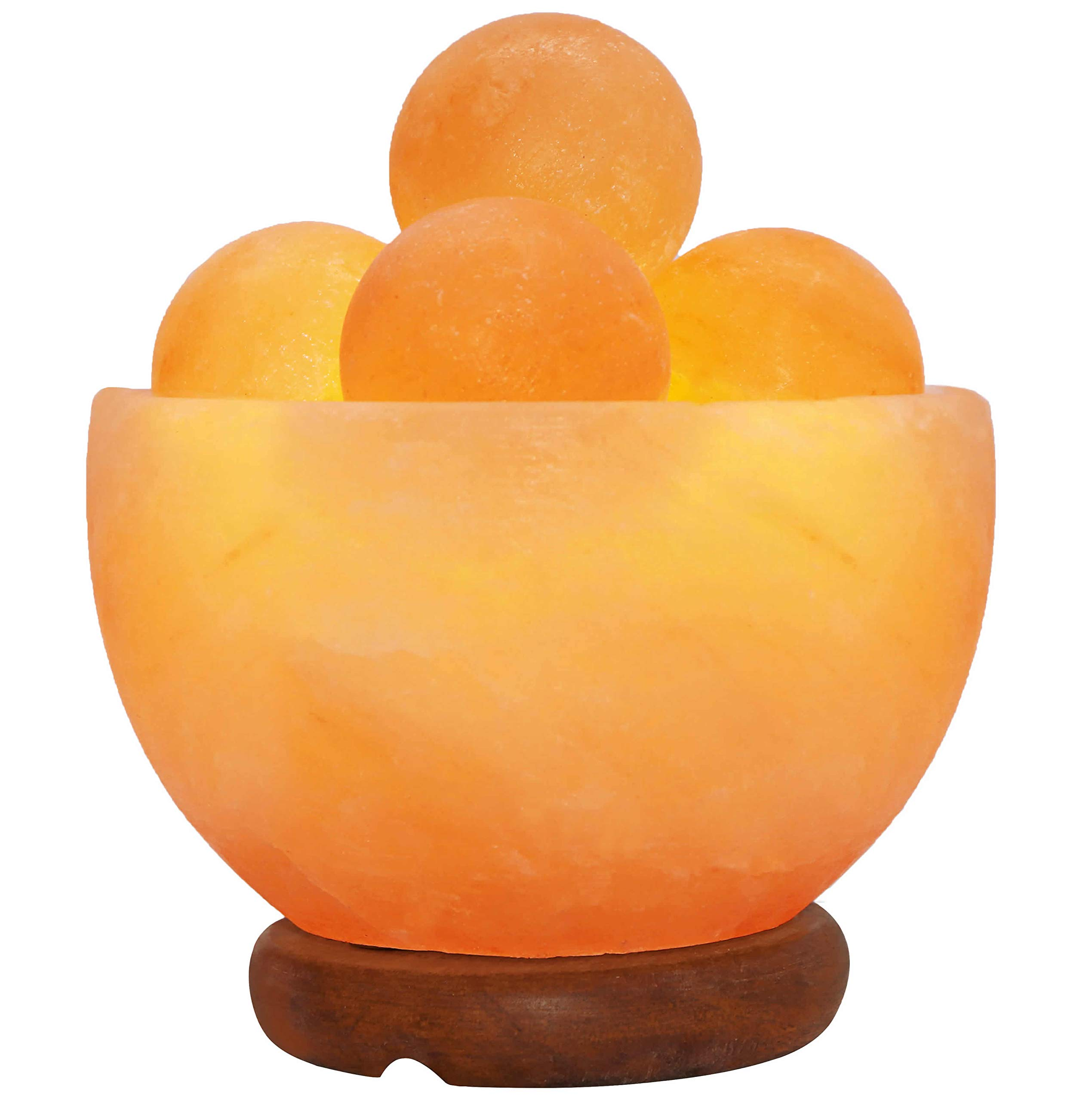 Himalayan Fire Bowl Salt Lamp with 5 Massage Balls Premium Quality Authentic from Pakistan