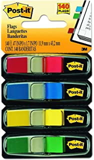 Flags Assorted Bright Colors.47 in Wide 6 Pack 4 Dispensers//Pack, 35//Dispenser 683-4AB