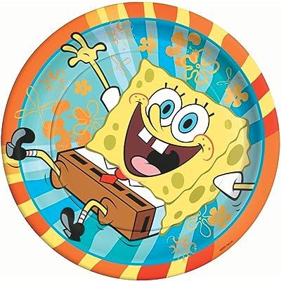 Spongebob Squarepants Lunch Plates, 8ct: Toys & Games