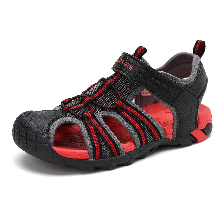 DREAM PAIRS Little Kid 170813-K DK.Grey RED Outdoor Summer Sandals Size 12 M US Little Kid