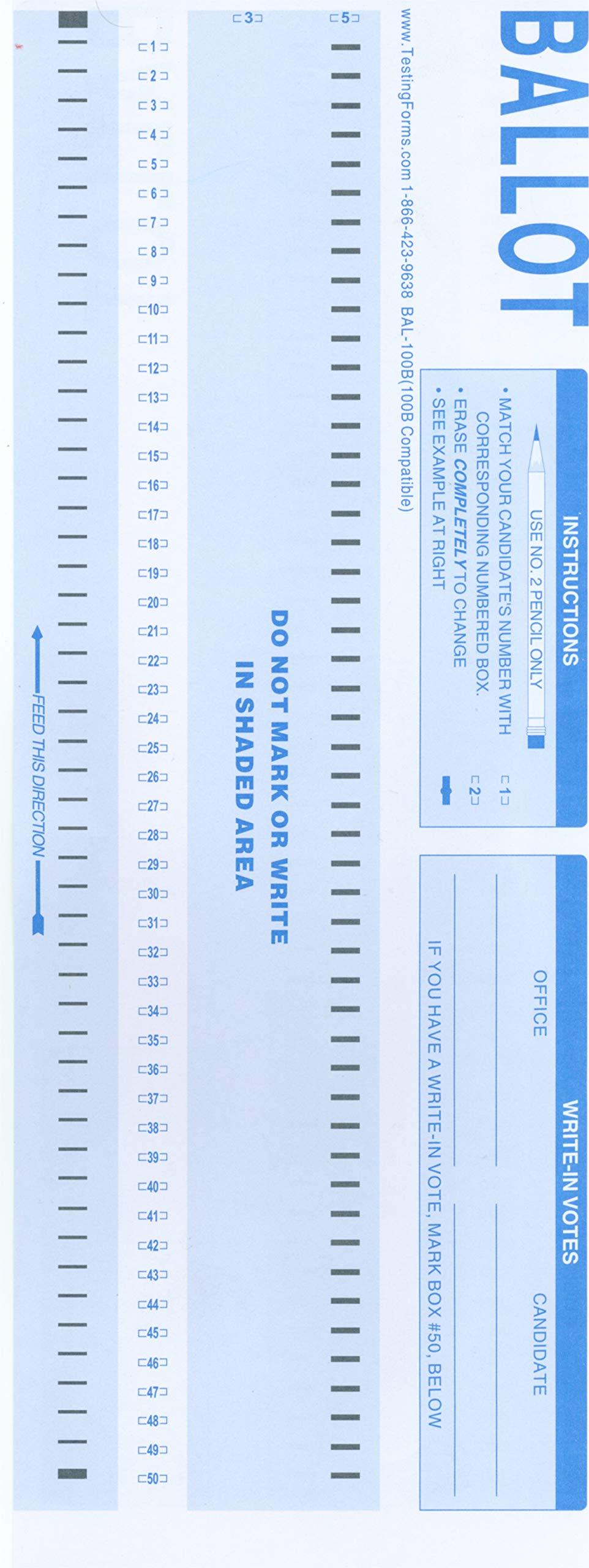 BAL-100B (500 Sheet Pack) Compatible Ballot Forms