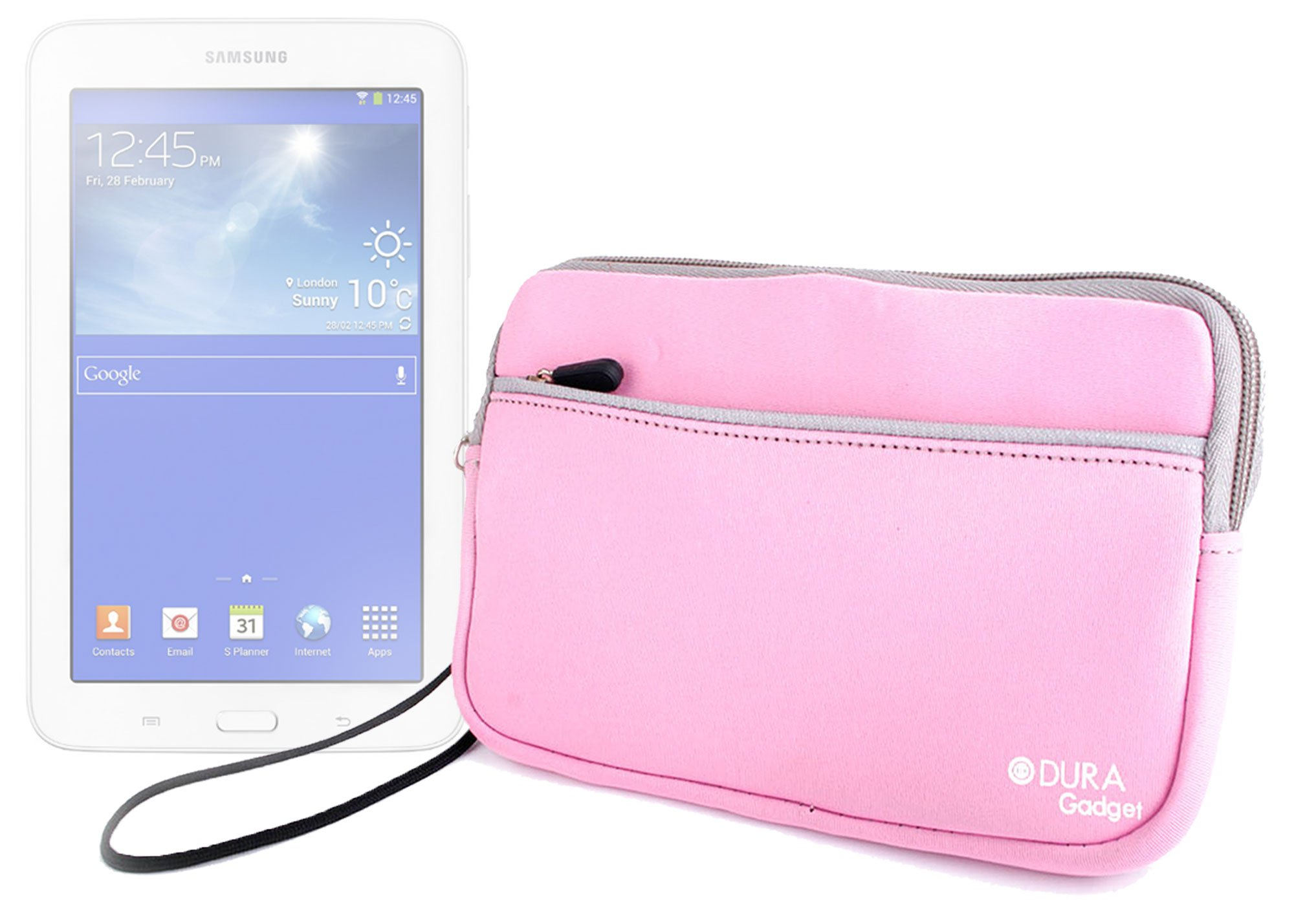 DURAGADGET Lightweight & Ultra-Portable 7'' Neoprene Case in Pink - Compatible with The New Samsung Galaxy Tab 3 Lite 7.0 VE/Samsung Galaxy Tab 3 V (SM-T113 / SM-T116NU)