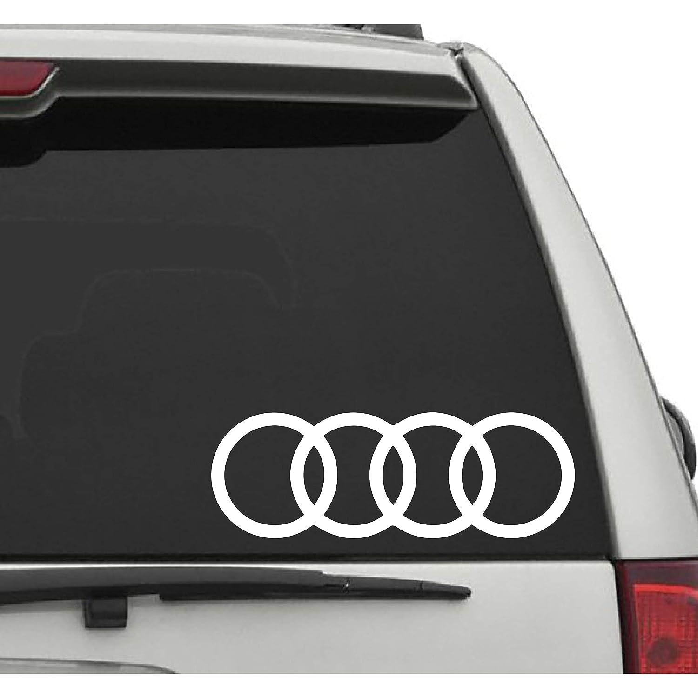 Amazon Com Seek Racing Audi 4 Rings Decal Car Truck Window Bumper