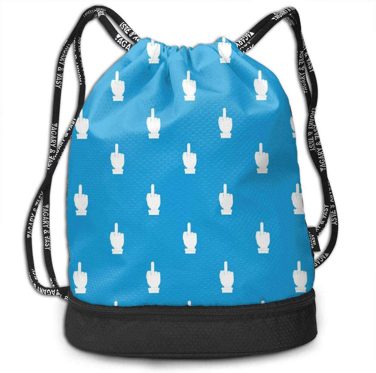Drawstring Backpack Middle Finger Shoulder Bags