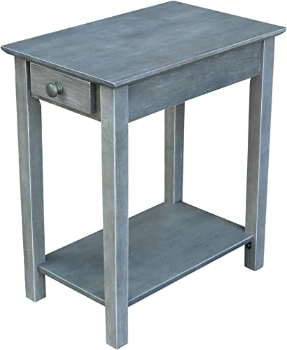 International Concepts Narrow End Table in Gray