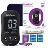 KetoSens Blood Ketone Monitoring Starter Kit - Ideal for Keto Diet. Includes Meter, 10 Test Strips, 10 Lancets, Lancing Devic