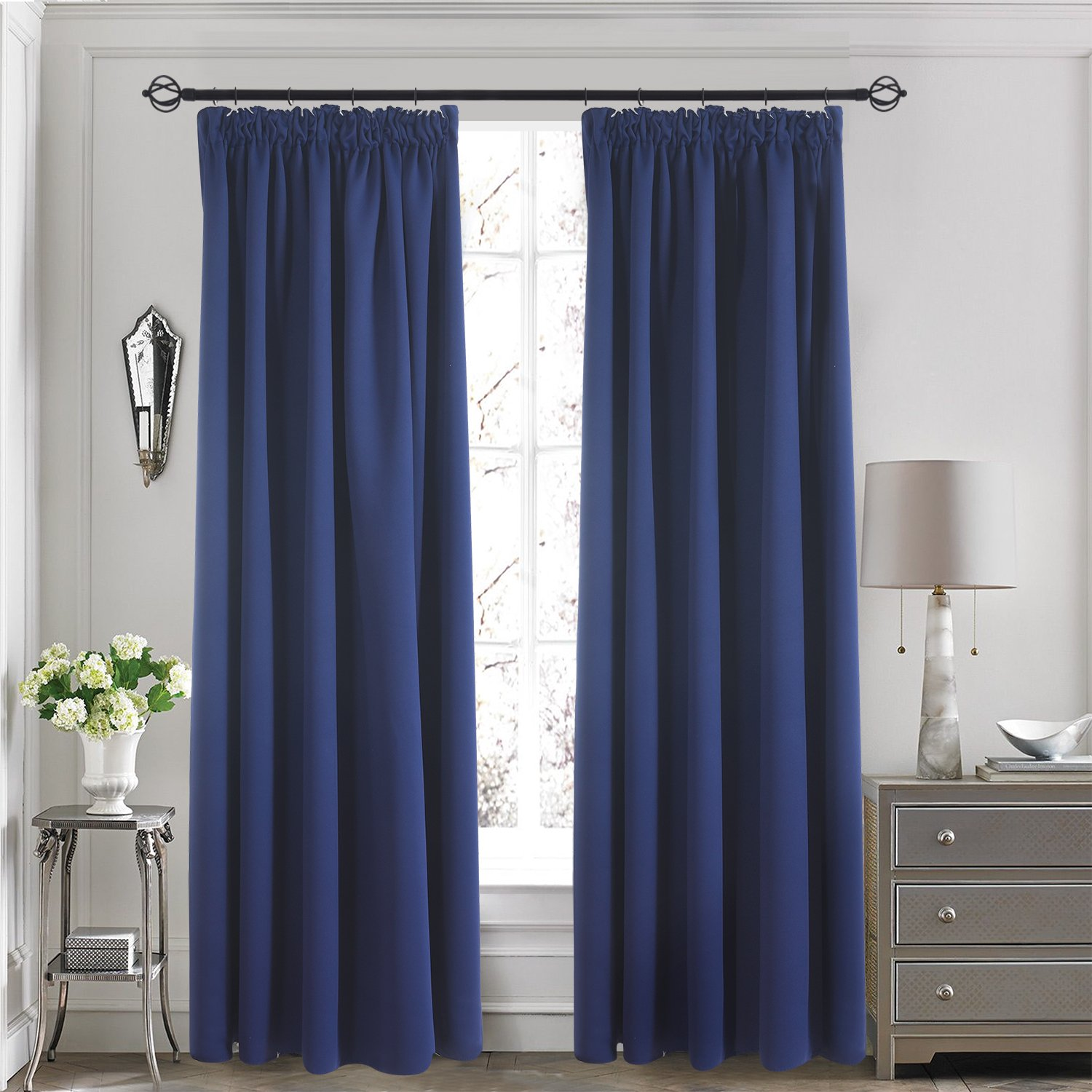 Thermal Insulated Pencil Pleat Curtains