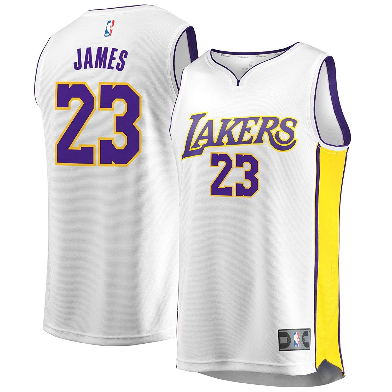 Fast Break Lebron Lakers Replica Jersey White - Association Edition