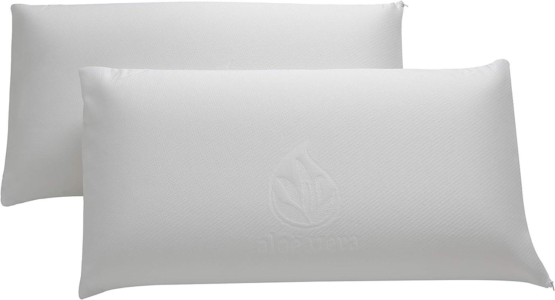 Cozzy VISCO Pack Almohadas Viscoelásticas (2 x 70 cm), Blanco