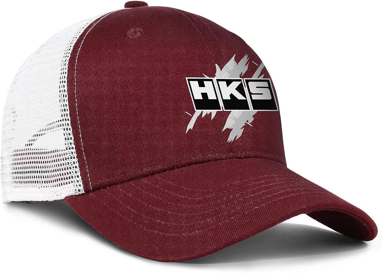 COOLGOOD HKS-/—-Worldvector-Logo Men Womens Mesh Back Baseball Caps Curved Summer Hats