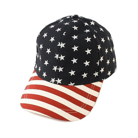 97cf5480123 Unisex Patriotic USA Flag Snapback Visor Bill 6 Panel Cap Hat Adjustable  Navy