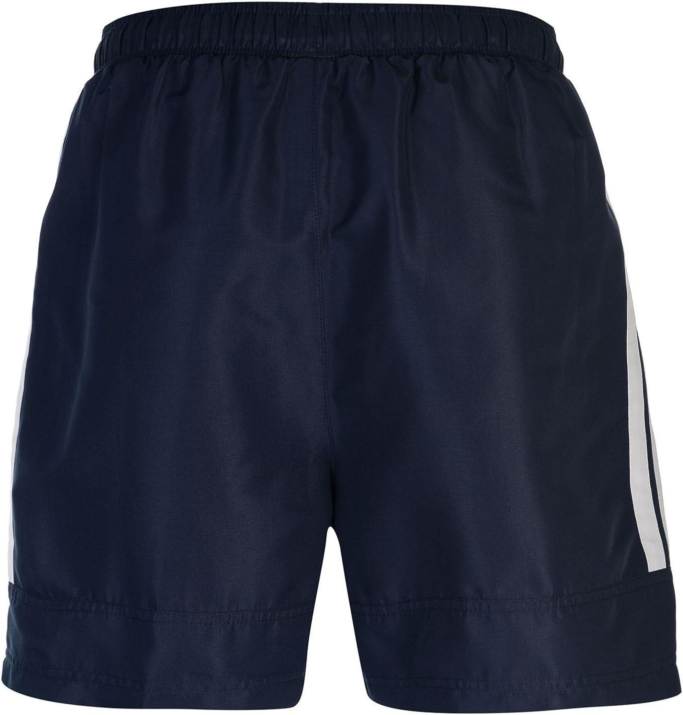 Dos Rayas Lonsdale Pantalones Cortos de Entrenamiento para Hombre Tejido Interior de Malla