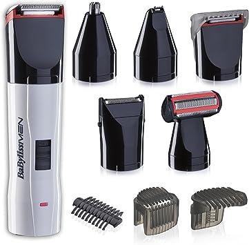 BaByliss - Kit de corte T839E – Set de afeitado eléctrico multifunción barba y cuerpo, con recortador de nariz y orejas, cuchillas de acero inoxidable, lavable: Amazon.es: Salud y cuidado personal