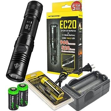 Nitecore EC20 960 Lúmenes CREE XM-L2 T6 Linterna LED NL183 ...
