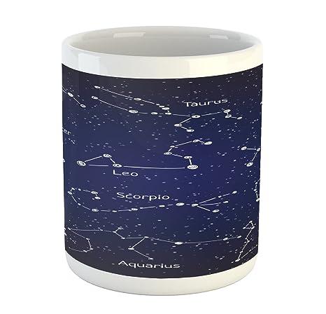 Amazon.com: Constelación Taza por Ambesonne, Doodle gis ...