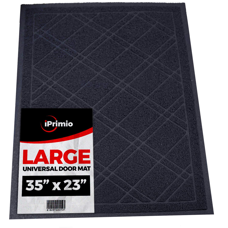 "SlipToGrip Universal Door Mat – Plaid Design Size 35"" x 23"" – Anti Slip, Durable & Washable – Duraloop Mesh Entrance Outdoor & Indoor Welcome Mat – Dirt and Dust Absorber"
